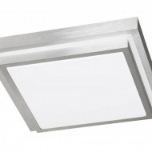 Plafoniera HALDEN, metal/plastic, alba, 30 x 9 x 30 cm, 15w