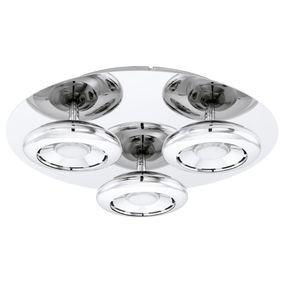 Plafoniera LED Chloe metal/plastic, argintiu/alb, 3 becuri, diametru 30 cm