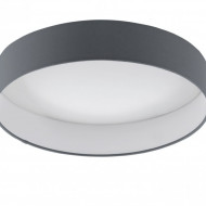 Plafoniera LED Palomaro tesatura / plastic, 1 bec, gri, diametru 41 cm, 230 V