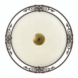 Plafoniera Mestre sticla/otel, bej, 3 becuri, diametru 48 cm, 230 V