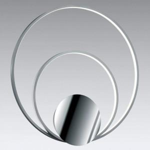 Plafoniera Sedona II, metal, argintie, 61 x 6 x 60 cm, 30w