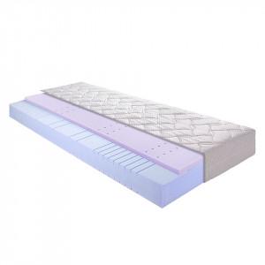 Saltea 7 zone Sleep Gel 2 spuma rece, alb, 120 x 220 x 20 cm
