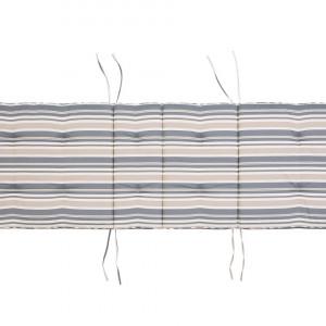 Saltea pentru sezlong Toscana - bej/albastra 188 x 59 x 5 cm