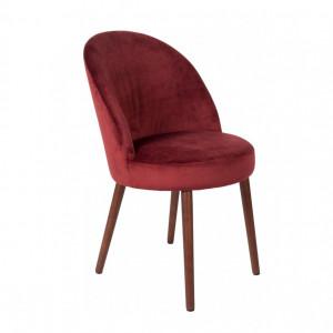 Scaun Barbara din catifea, roșu