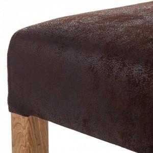 Scaun de bar Reno tesatura/lemn de stejar, maro antic, 42 x 104 x 52 cm