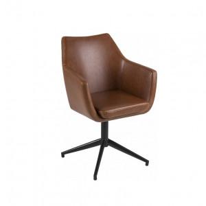 Scaun de birou pivotant Nora, maro/negru, 58 x 84 x 57 cm