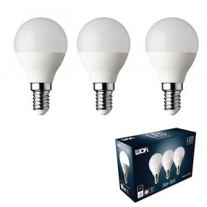Set 3 becuri E14 LED GLS, 6 wați putere