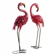 Set de 2 obiecte decorative Flamingo fuchsia