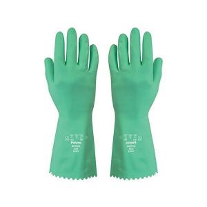 Set de 2 perechi manusi Polyco Optima din cauciuc, verde, marimea L