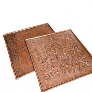 Set de 2 platouri Karll, bronz, 33 cm