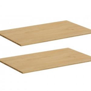 Set de 2 polite pentru dressing, lemn, natur