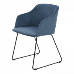 Set de 2 scaune Adamek, albastre, 79,5 x 52 x 54,5 cm