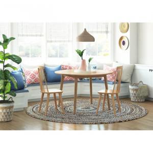 Set de 2 scaune Arikara, lemn masiv, 91,44 x 49 x 52 cm