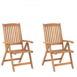 Set de 2 scaune de gradina Java, maro, 54 x 69 x 105 cm