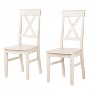 Set de 2 scaune din lemn masiv Lingby