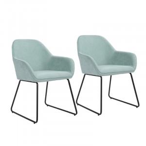 Set de 2 scaune Lassiter, metal/textil, 82.5 x 63 x 57 cm