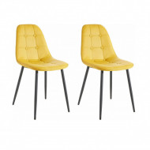 Set de 2 scaune Luna - galben curry