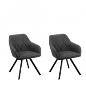 Set de 2 scaune Monee gri, 78 x 50 x 48cm