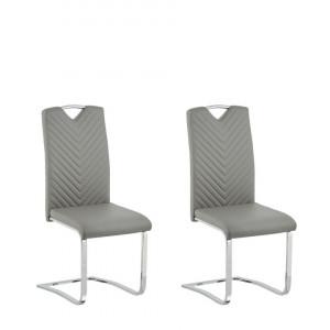Set de 2 scaune Picknes, gri/argintii, 43 x 55 x 105 cm