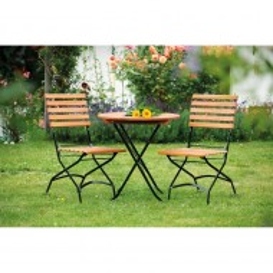 Set de 2 scaune Schlossgarten pliabile, eucalipt/otel