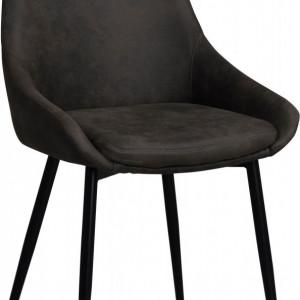 Set de 2 scaune Sierra, negre, 49 x 85 x 55 cm