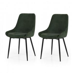 Set de 2 scaune tapitate Mankato, 85 x 48 x 55 cm