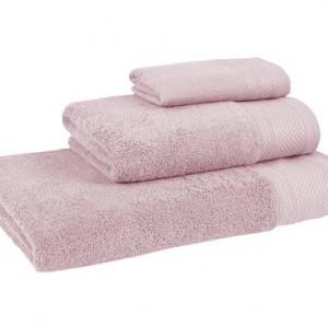 Set de 3 prosoape Premium roz prafuit