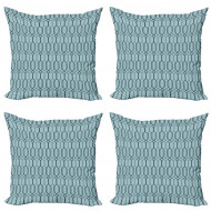 Set de 4 huse pentru perna Warden, albastre, 40,64 x 40,64x 1 cm