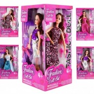 Set de 4 papusi mari Fashion Doll cu accessorii