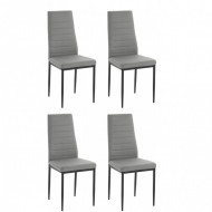 Set de 4 scaune Sandy gri/negru