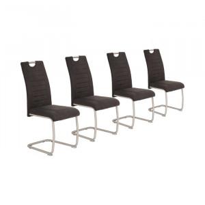 Set de 4 scaune tapitate Fenton, metal, 98 x 43 x 59 cm