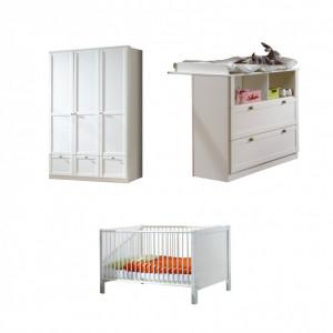 Set de mobilier pentru bebelusi Arnico, 3 piese, alb
