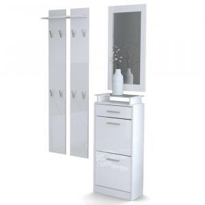 Set de mobilier pentru hol Loret V2, alb