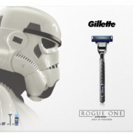 Set Gillette Rogue One: Aparat de ras Mach3 Turbo + 2 rezerve Mach3 Turbo + Gel de ras Mach3 Extra Comfort, 75ml