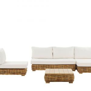 Set lounge Varallo, alb/maro, 320 x 160 x 57 cm