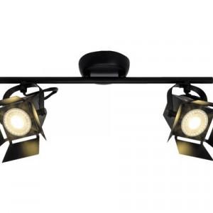 Spotlight, metal, negru, 39 x 16,5 x 19 cm, 10w