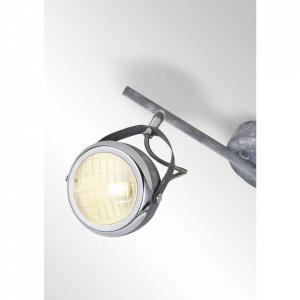 Spotlight Rider, metal/sticla, gri/negru, 37 x 22 x 14 cm, 33w