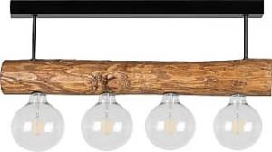 Spotlight Trabo, metal/lemn, maro, 70 x 230 x 12 cm