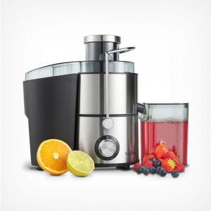 Storcator de fructe VonHaus 400 W, otel inoxidabil, negru/argintiu, diametru 33,3 cm
