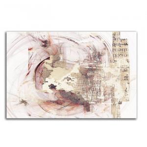 "Tablou ""Abstract 379"", alb/bej, 80 x 120 cm"