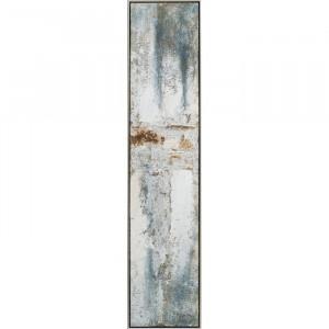 "Tablou ""Abstrakt"", gri, 129 x 29 cm"