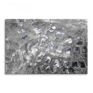 "Tablou ""Abstrakt 804"", panza, gri, 80 x 120 x 2 cm"