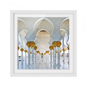 """Tablou """"Moscheea din Abu Dhabi"""", 50 x 50 x 2 cm"""