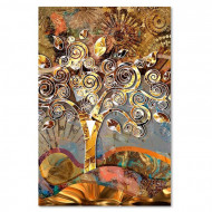 "Tablou ""Tree of the Love Klimt"", panza, 90 x 60 x 3 cm"