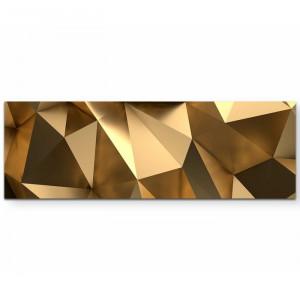 Tablou 3D, auriu, 50 x 150 cm