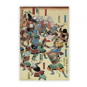 Tablou 'A Riot of Samurai' by Tsukioka Yoshitoshi, 42 x 29 cm