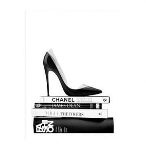 Tablou Black Shoe, 30x40 cm