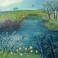 Tablou canvas Spring at Kingfisher Pool, 85 x 85cm