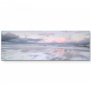Tablou, panza, gri/alb, 90 x 60 cm