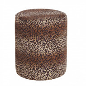 Taburet Daisy, model leopard, 38 x 45 cm